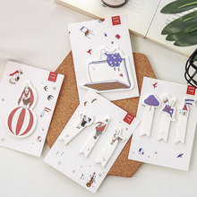 2X cute Creative paper paste N times plan Sticky Notes Post ItMaterial: kawaii stationery School Supplies Planner Stickers Paper