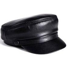 RY0101 BRAND NEW 2020 wiosna/zima Unisex 54 60 CM Balck prawdziwej skóry wiatroszczelne czapki baseballowe mężczyzna/kobieta Duckbill Gorras