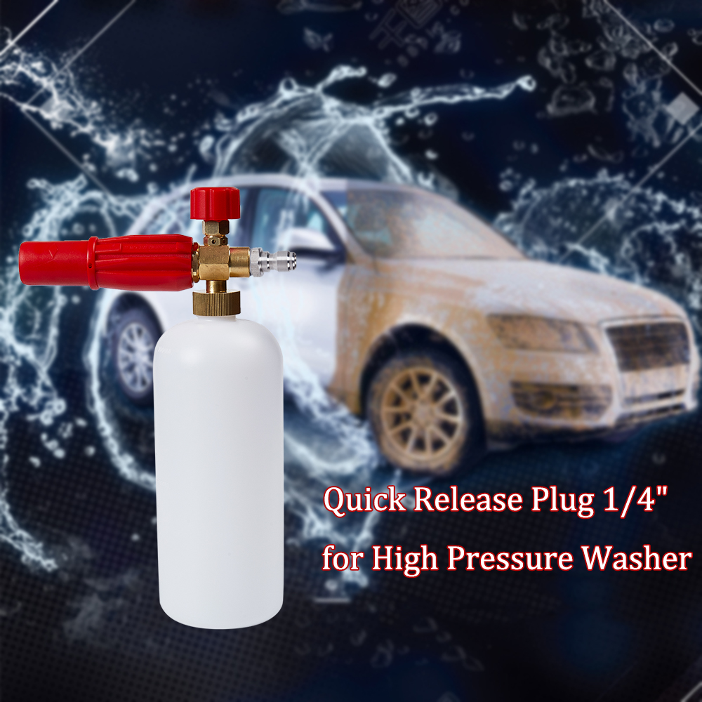 """Image 5 - Snow Foam Lance 1/4"""" Quick Release Adjustable Compatible Foam Cannon For High Pressure Washer-in Water Gun & Snow Foam Lance from Automobiles & Motorcycles"""