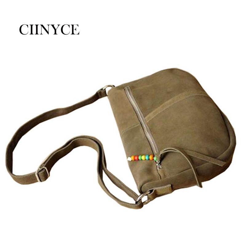 Cross-body Bags 2018 Real Cow Leather Messenger Bag Women Brand Beading Shoulder Hobos Handbag Ladies Genuine Suede Famous Split shyojo new famous brand women s single shoulder bag chain shoulder bag ladies handbag with 6 candy color clutch cross body bags