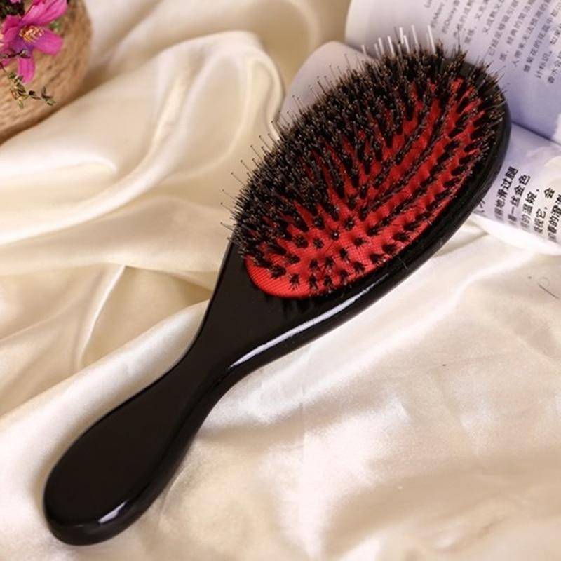안장 솔, 검은 머리 받이 머리카락 브러쉬 BB-78에 대한 머리 두피 마사지 브러쉬에 검은 멧돼지 머리카락 브러쉬