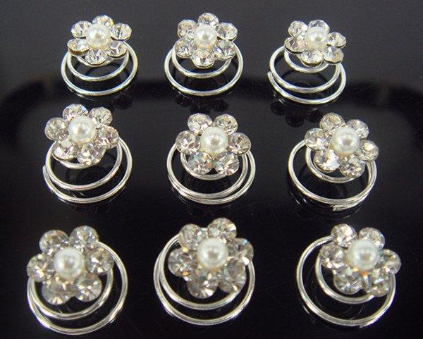 80 шт свадебное с кристаллами жемчужные шпильки для волос