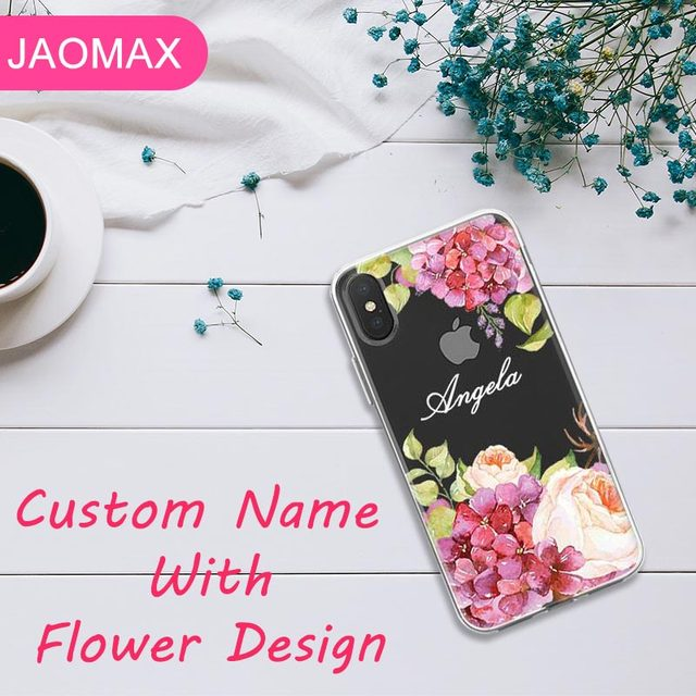 iphone xr case flowers name