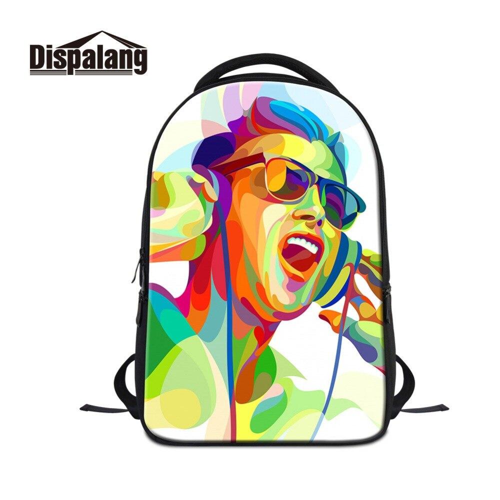 Dispalang grande capacité impression 3D modèles sac à dos pour ordinateur portable Cool sacs d'école pour filles garçons sac Pack Mochilas Femininas Bolsas