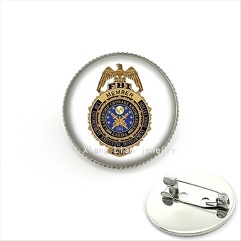 plated FBI 2007 military brooch member law enforcement executive development association jewelry for women and men MI012 image