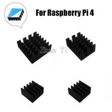 4 шт. для Raspberry Pi 4B алюминиевый радиатор кулер комплект для Raspberry Pi 4