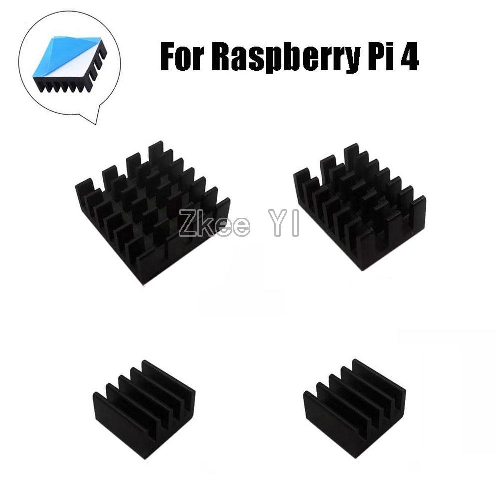 4pcs For Raspberry Pi 4B Aluminum Heatsink Radiator Cooler Kit For Raspberry Pi 4