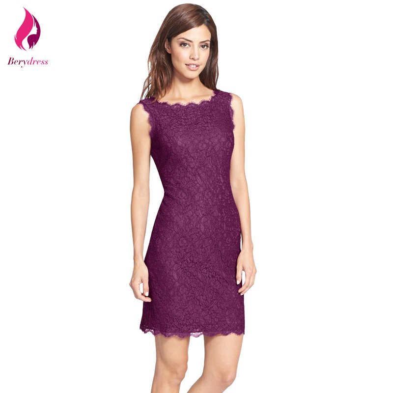 Berydress Women\'s Purple Lace Dress Wedding Party Vintage Bodycon ...