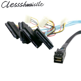 (100 Teile/los) Interne Mini Sas Sff-8643 Host Zu 4 Sas 29pin Sff-8482 Festplatte Fanout 6 Gbps Data Server Raid Kabel 50 Cm Waren Des TäGlichen Bedarfs