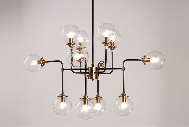 Modern Shade Glass Chandelier Light E14 Bulb LED Pendant Lamp Modern ...