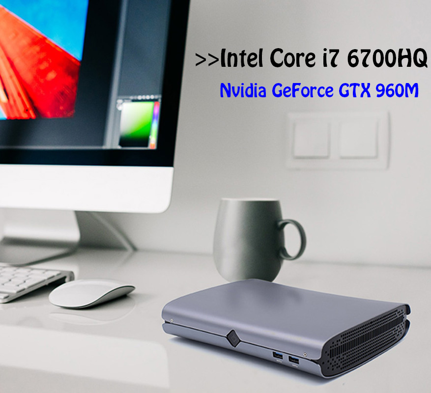 Dedicated Card Gaming PC Core i7 6700HQ Powerful Mini PC Windows10 with Nvidia GeForce GTX 960M