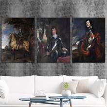 Home Decoration Print Canvas Art Wall Pictures Poster Printings Paintings England Anthony van dyck 3 Portrait