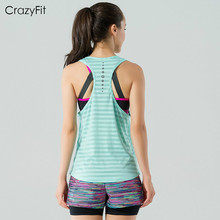 New girls skilled sports activities operating vest t-shirt health club health Yoga breathable fast dry Bodybuilding Outdoor evening run vest