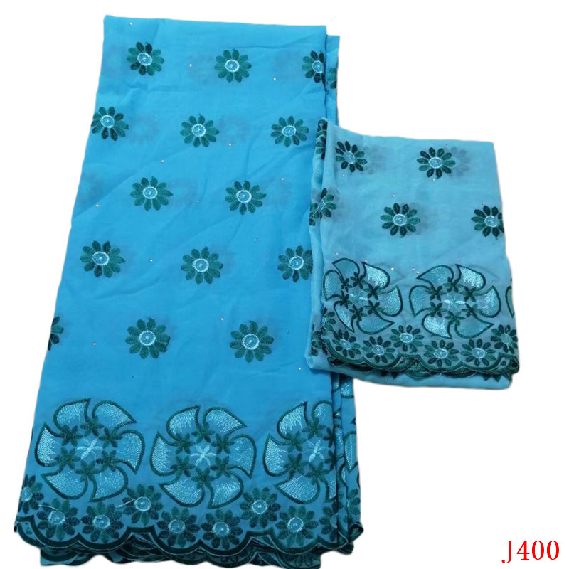 Swiss voile lace in Switzerland High Quality Sky Blue French Cotton Lace Embroidered African Lace Fabric with Blouse HA400Swiss voile lace in Switzerland High Quality Sky Blue French Cotton Lace Embroidered African Lace Fabric with Blouse HA400