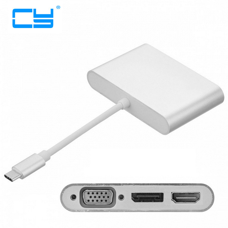 Combo 3 in 1 USB-C USB 3.1 Type C to HDMI Digital AV & VGA & DP DisplayPort Adapter for Laptop & Notebook usb 3 1 usb c type c to hdmi digital av