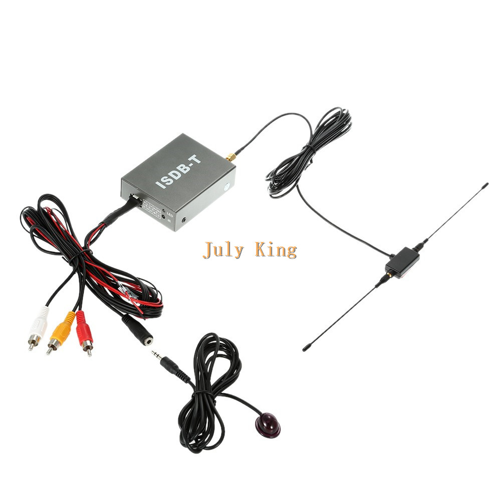 ISDB-T Car Digital TV Receiver And Turner, Set Top TV Box, Iron Shell, Single Antenna, for South America and Japan etc isudar digital tv receiver for car tv tuner isdb t 2 way video out put for japan brazil south america free shipping