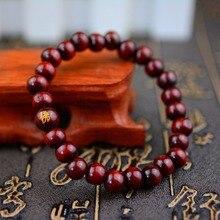 LKO Mens Women Wood Beads Bracelets Rappers Jewelry Sandalwood Chinese Buddhist Buddha Meditation Prayer Bead bracelet lko new glass bracelet weave lucky flower bracelets handmade dandelion woven dried flowers glass beads bracelet women jewelry