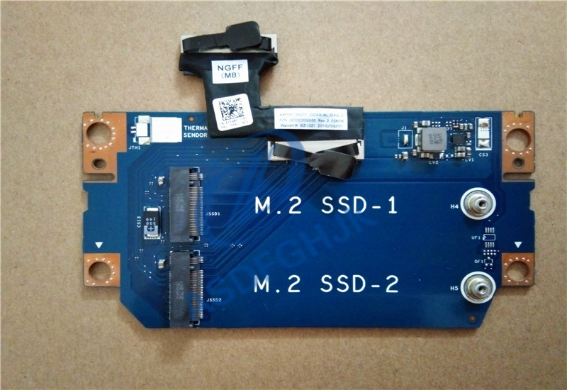 FOR DELL FOR Alienware 13 R2 13.3 Laptop NGFF SSD1 SSD2 Board AAP01 LS-C902P CN-0G8C4P G8C4P 100% Test Ok