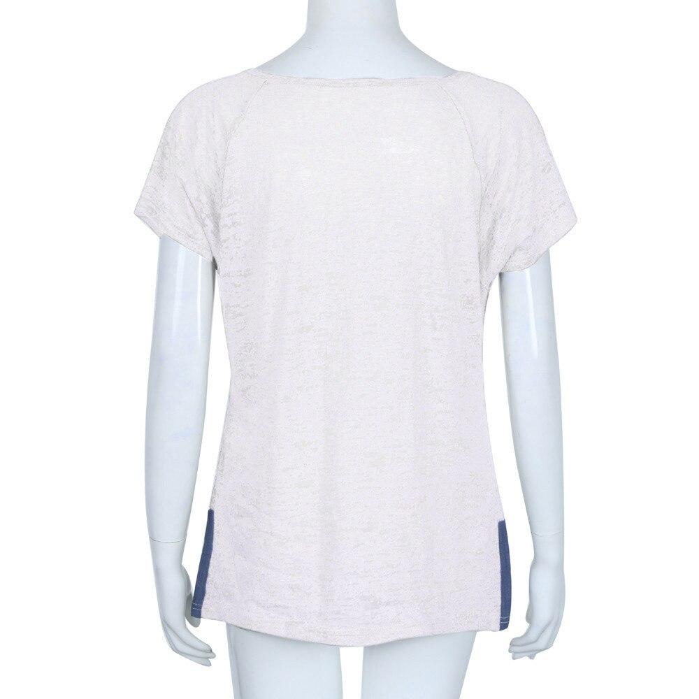 Suelta Grande Para Camisa Casual Mujeres De Camisetas Blusa White Sin Embarazadas Talla gray Mujer Mangas Ropa A8xqaw1Cn