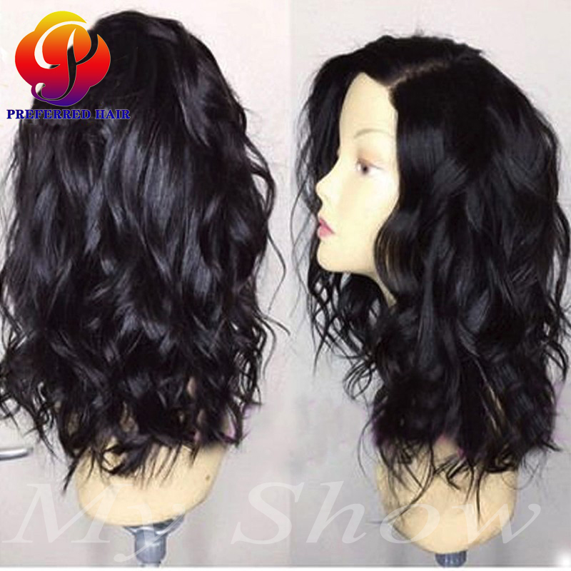 glueless remy full lace bob wigs with baby hair short full