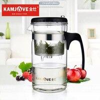 Tp-kamjoveアート茶カップ*マグ&茶ポット1000ミリリットルガラスティーポットkamjove耐熱ガラスカンフーティーポットピャオyi