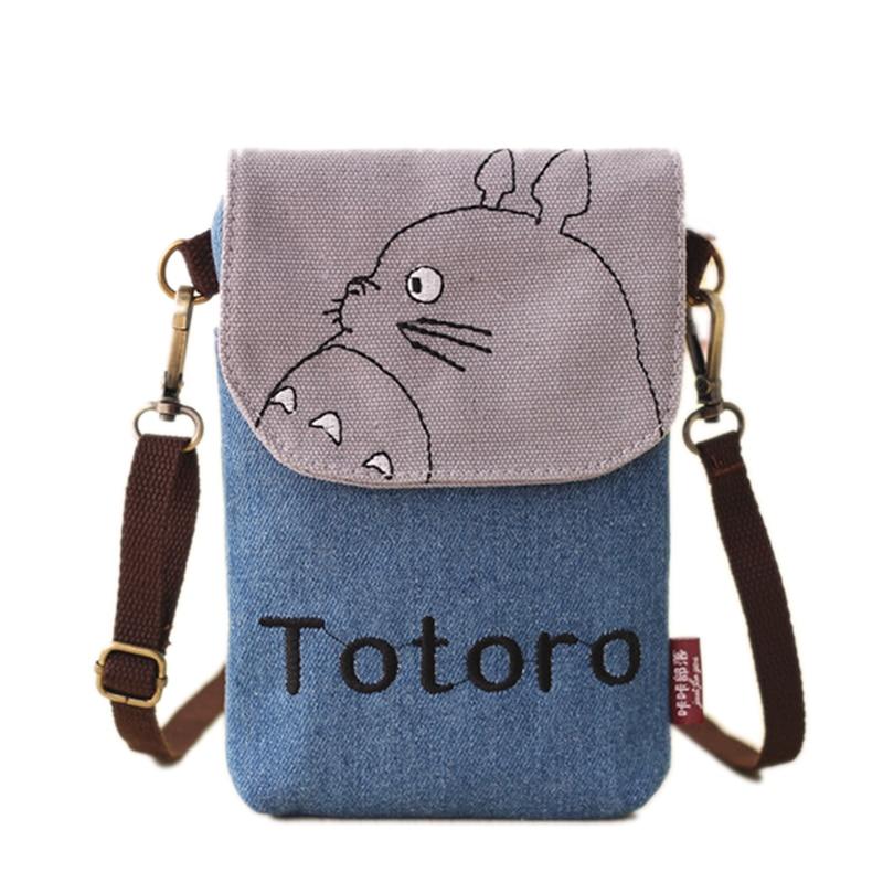 Hot Cartoon Baobao Totoro Crossbody Bag For Women Canvas Mini Shoulder Bags Female Clutch Purse And