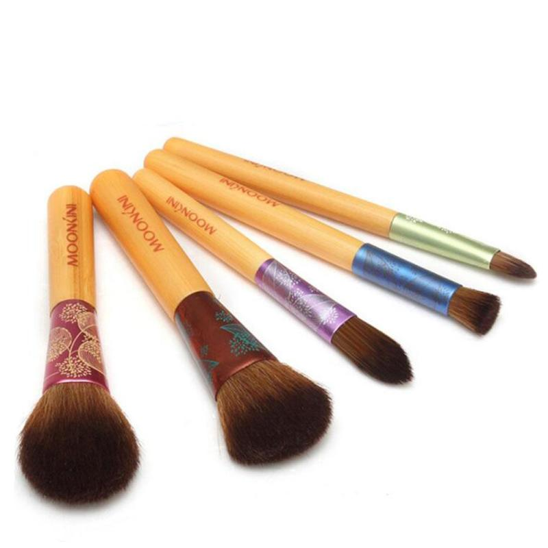 5pcs Makeup Brushes Professional Cosmetic Brush set High Quality Makeup Set With Case nature bristle make up brushes L2 temptalia make up brushes 8pcs brush set professional nature bristle brushes beauty essentials makeup brushes copper top quali