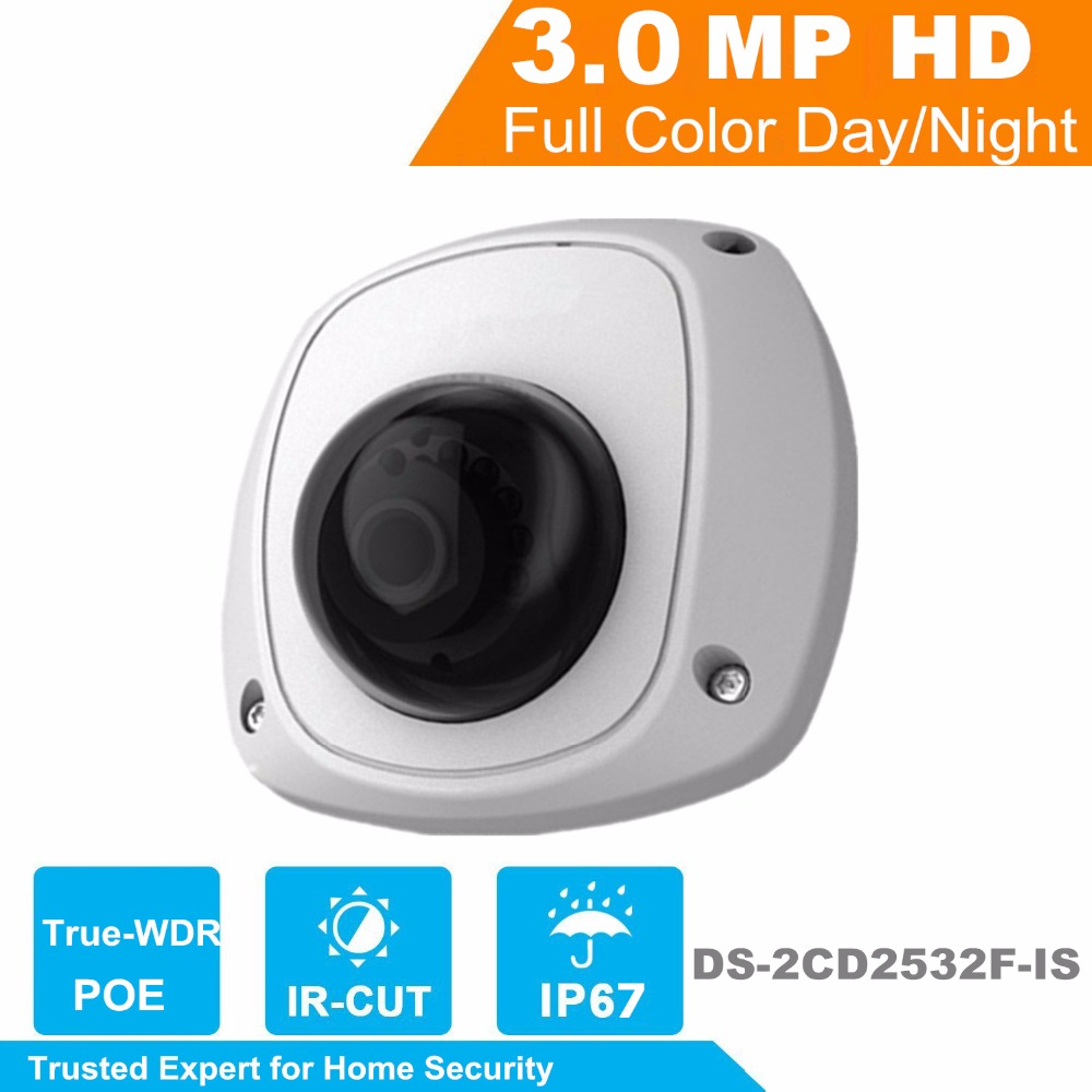 IP Camera  3.0MP Mini Dome Network DS-2CD2532F-IS SD card. Audio IP Camera mini camera 4mm lens English Version touchstone teacher s edition 4 with audio cd