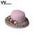 2016 del nuevo cordón de paja sombrero de sol para mujeres Tea Party para mujer sombrero de flores de encaje playa gorras visera de Sun sombrero Trilby verano YY60168
