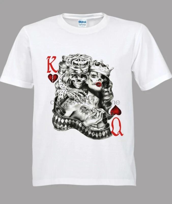 Valentine/'s Day Shirt King Queen Shirt Playing Card Shirt King of Hearts Shirt Queen of Hearts Tee Valentines Shirt