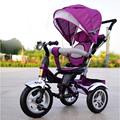Geniune Asiento Giratorio Completo Sunshed Bebé Carro Triciclo Niño Bebé Bicicleta Cochecito de Bebé Moto Carro Para 6 Meses-6 años de Edad