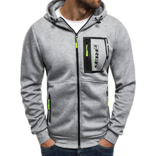 ZOGAA Men hoodies hooded sweatshirts Black Gray Zipper patchwork casual sportswear male clothing Young Fashion