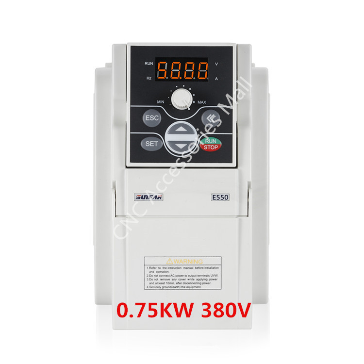 Original NEW SUNFAR VFD Inverter E550-4T0007 750W AC380V Frequency 0.75kw E550 1000HZ