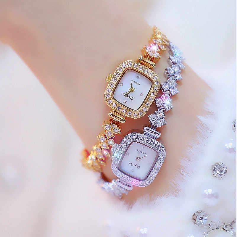 Marca Superior Reloj De Esfera Rectangular Pequeno Y Elegante Para Mujer Relojes Para Mujer Nuevo Diamante Para Joyeria A La Moda Reloj Zegarek Damski Relojes De Mujer Aliexpress