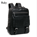 Hot Sell Casual High Quality Men Business Backpacks 2016 Fashion High Grade PU Leather Designer Men's Schoolbag Travel Bag