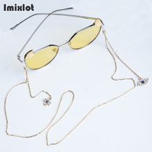Retro Womens Pendant Eyeglass Chains Rhinstone Evil Eye Sunglasses Reading Glasses Chain Eyewears Cord Holder Neck Strap Rope(China)