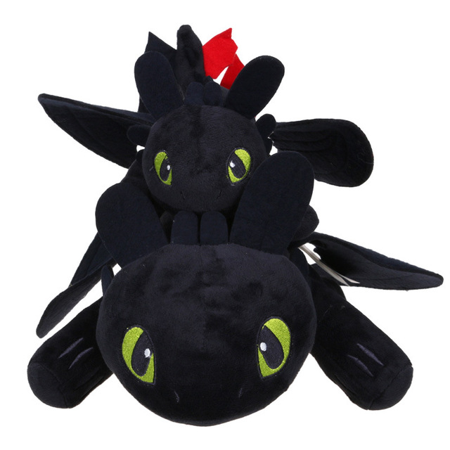 0ba8588df2a 27cm Night Fury Plush Toy How To Train Your Dragon 2 Toothless Dragon  Stuffed Animal Dolls