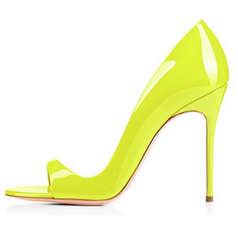 ENMAYER Basic Casual Slip On Zandalias De Verano Mujer Sandalias Women Fashion Super High Heel Sandals Big Size 34 45 LY504 in High Heels from Shoes