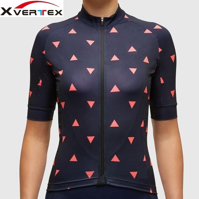 Цена за X vertex велокоманды одежда женщины 2017 Новый гоночный велосипед с коротким рукавом джерси дорожный велосипед велоспорт одежда для девочки Ropa ciclismo