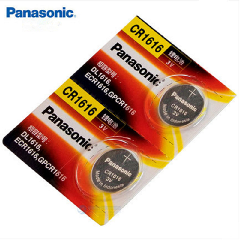 2x Panasonic CR1616 Button Cell Coin Batteries CR1616 Car Remote Control Electric Alarm 3V Lithium Battery стоимость