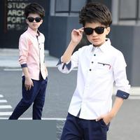 تصميم جديد الأطفال الأولاد قميص الساخن بيع الاطفال المطبوعة موضة نمط القطن الفتيان قميص ملابس الأطفال بلوزة بيضاء 10 12 العام
