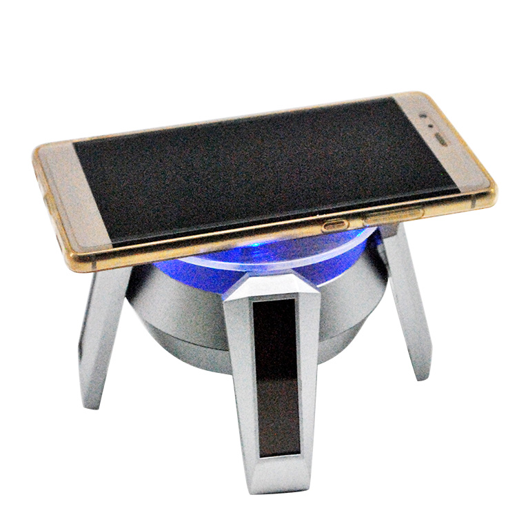 Retail Store Exhibition Sunshine 360 Rotating Display Stand Turntable Collectible Battery Operation Solar Energy Display Holder ems free shipping 3d photo shop display rotating turntable 360 degree mannequin photography stand