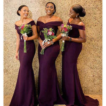 Vestido longo 2019 South African purple Bridesmaid Dresses Formal Wedding Party Guest Maid of Honor Gown Plus Size - DISCOUNT ITEM  40% OFF All Category