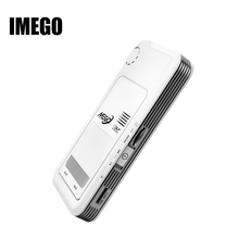 IMEGO Sistema Android inteligente de Smart Mini Led Proyectores Pico Proyector HD DLP Pocket Mobile Multimedia de Vídeo Al Aire Libre I