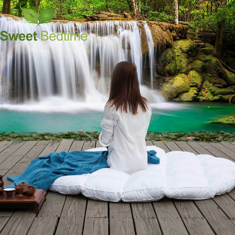 custom made Round bed topper goose down Featherbeds tatami mats star hotel mattress pads protector cover big floor bed yoga mats