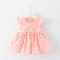 Hot Selling Hotnice New Fashion Baby Girl Dress Children Cotton Lace Bow Beautiful Princess Cute Dresses