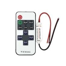 Mini controle dimmer dc 12v, sem fio, rf remoto para controle, iluminação da tira da cor única, 3528 5050 5630 tira de led 2835,