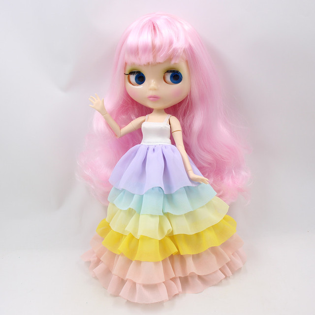 Clothes for 1/6 Blyth doll Unicorn outfit dress with cloak and hair band lovely princess dressing girl gift ICY BJD toy