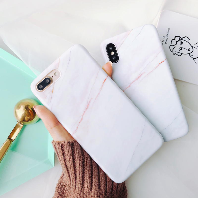 Ins hot coral marble case for iphone X XR XS XS Max Stone