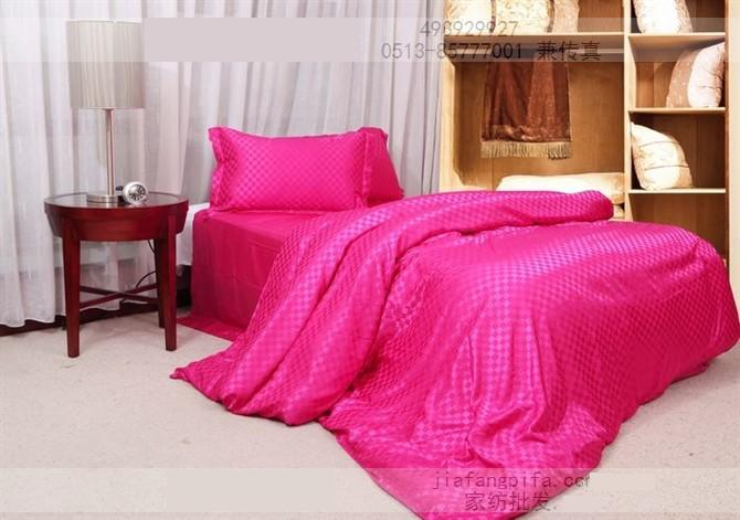 Bon Hot Pink Silk Bedding Set Plaid Satin Sheets Super King Size Queen Quilt  Duvet Cover Bedspread Bed In A Bag Linen Double Doona In Bedding Sets From  Home ...